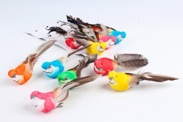 Птички на прищепке 14 см (12шт в уп) W17006