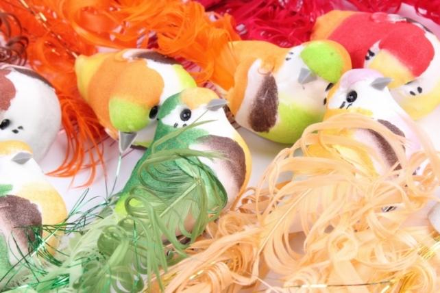 Птички на прищепке(12шт в уп) W15702