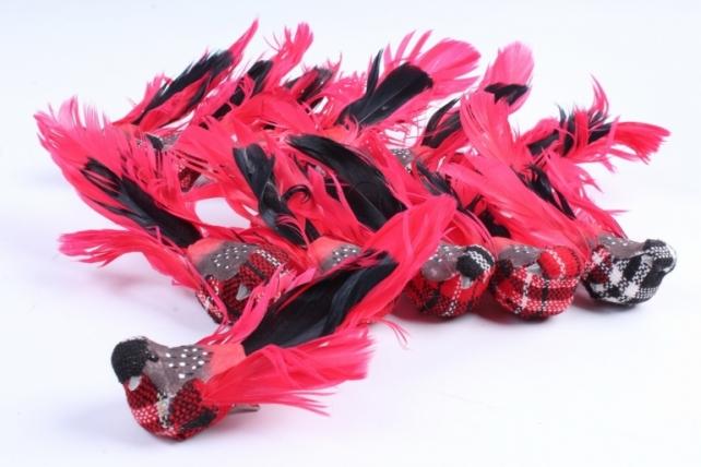 Птички на прищепке(12шт в уп) W15644