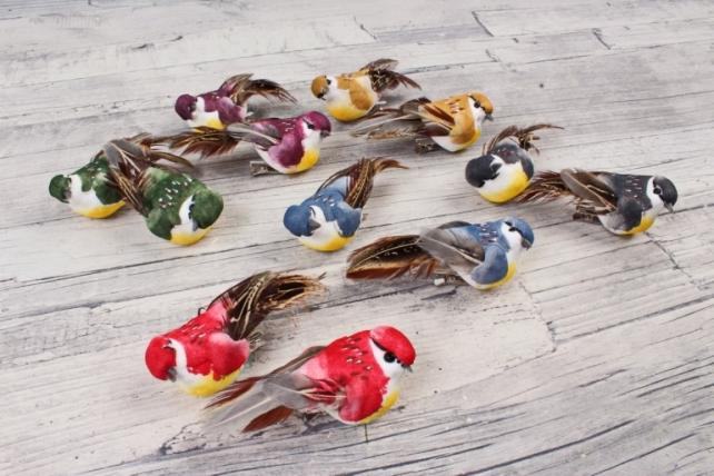 Птички (12шт в уп) на прищепке W18570