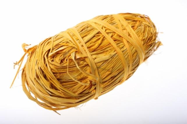 Рафия цветная (100гр) - Жёлтая