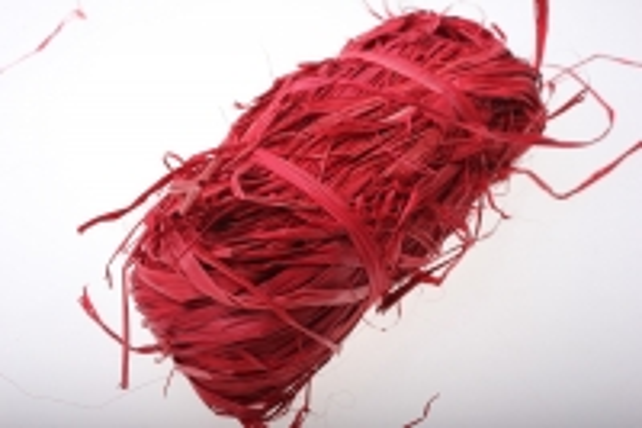 Рафия цветная (100гр) - Красная