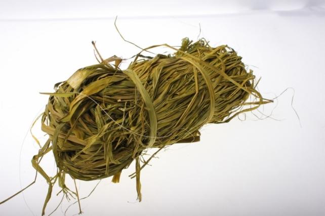 Рафия цветная (100гр) - Оливковая