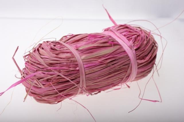 Рафия цветная (100гр) - Розовая