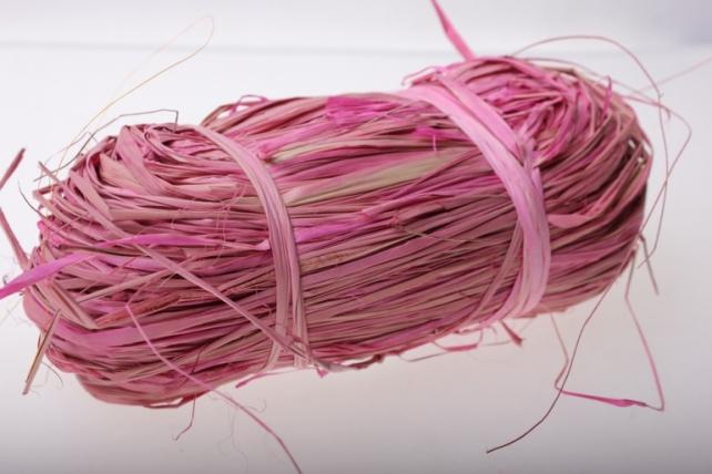 рафия рафия цветная (100гр) - розовая 1458
