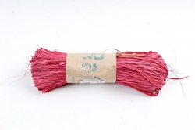 Рафия натуральная (30гр) красная