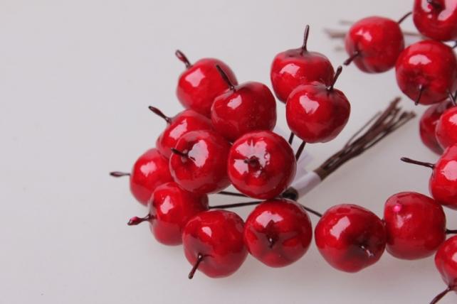 искусственные фрукты райские яблочки 1,5см (12 пучков по 12 шт) искусственные фрукты 7745