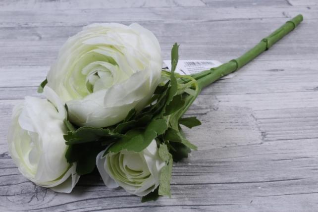 Искусственное растение - Ранункулюс  бело-салатовый SUN523
