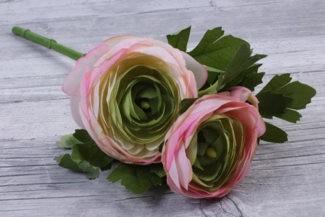 Искусственное растение - Ранункулюс  розовый SUN523
