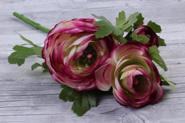 Искусственное растение - Ранункулюс  винный SUN523