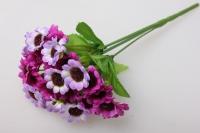 ромашка цветная букет, цвета ассортименте 25см - искусственные растения