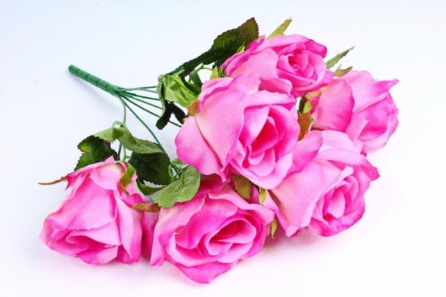 Роза (7 цветков) малиновая