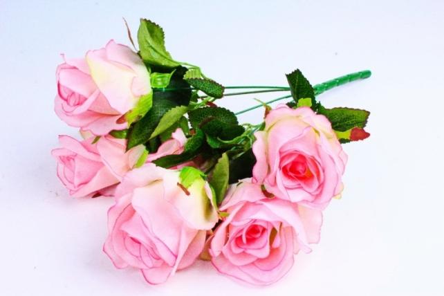 Роза (7 цветков) розовая