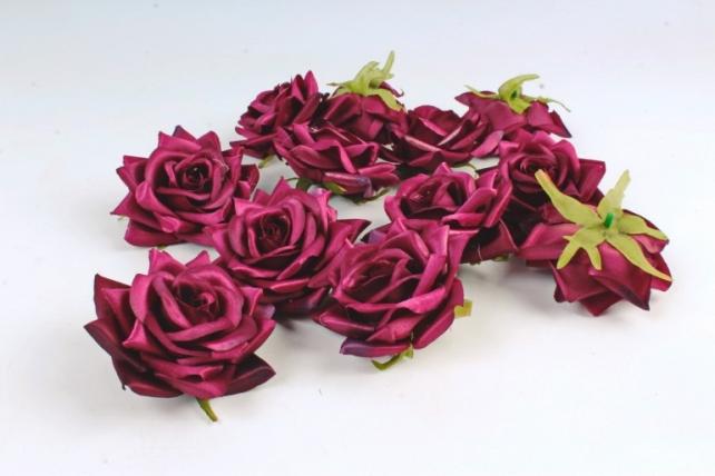 Роза 8 см (12 шт в уп) бордовые №25  ART148