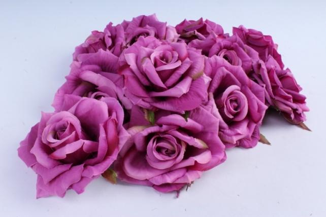 Роза  (12 шт в уп) пурпурные SUN450