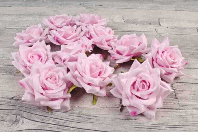 Роза 8 см (12 шт в уп) розовые №26  ART148