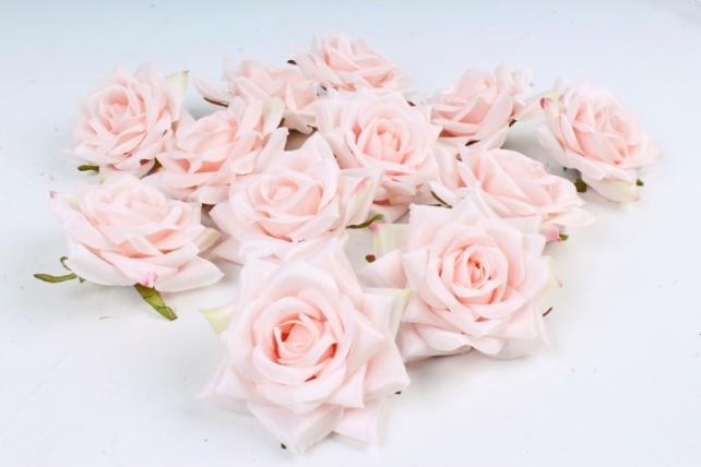 Роза 8 см (12 шт в уп) светло-персиковая №15 ART148