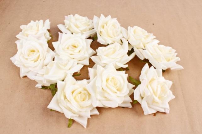 Роза 8 см (12 шт в уп) ванильная ART148