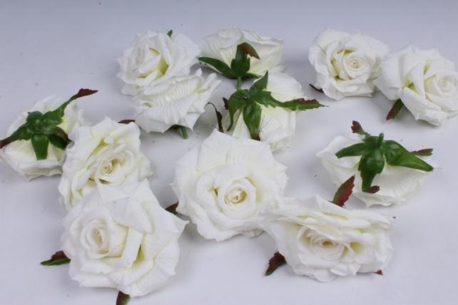 Роза 7 см (12 шт в уп) белая SUN450