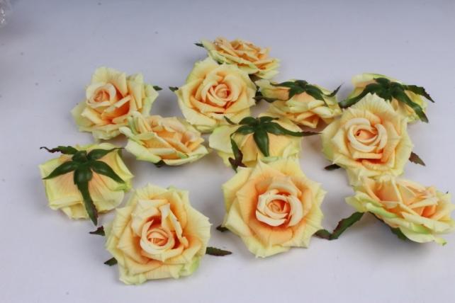Роза 7 см (12 шт в уп) жёлтая SUN450