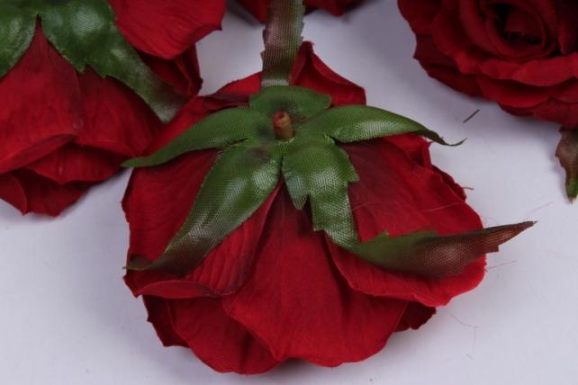 роза 7 см (12 шт в уп) красная sun450
