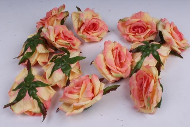 Роза 7 см (12 шт в уп) персиковая SUN450