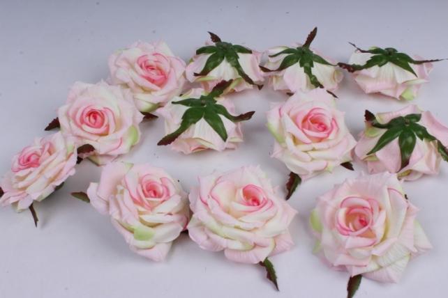 Роза 7 см (12 шт в уп) розовая SUN450