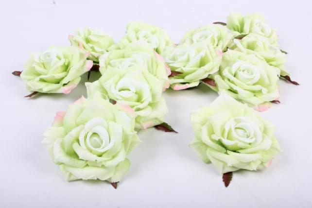 Роза 7 см (12 шт в уп) салатовая SUN450