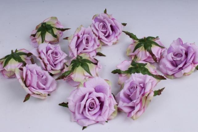 Роза 7 см (12 шт в уп) сиреневая SUN450