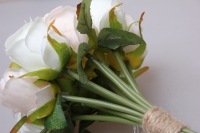 роза белая/кремовая 1/12шт 21см kwy 477 9529 - цветы искусственные