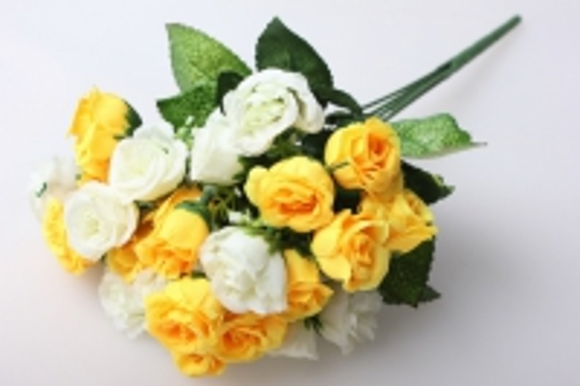 роза чайная микс букет 30см