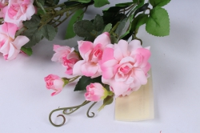 роза дизайн бело-розовая 32см