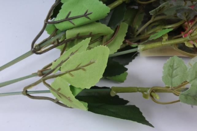 роза дизайн коралловая 32см