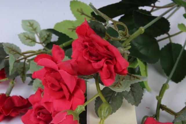 роза дизайн красная 32см