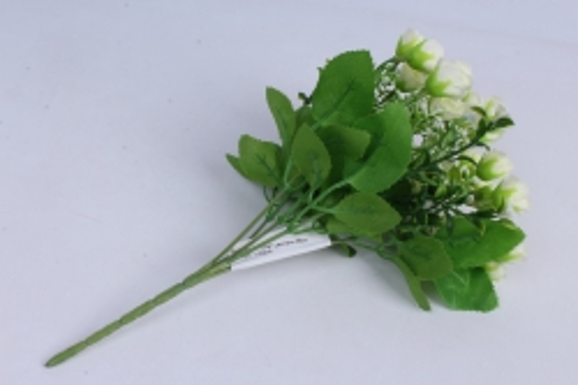 роза мелкая букет шампань 35см