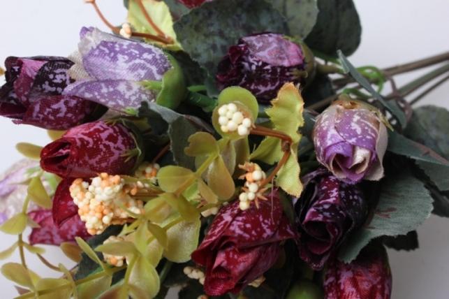 роза мраморная микс букет 30см