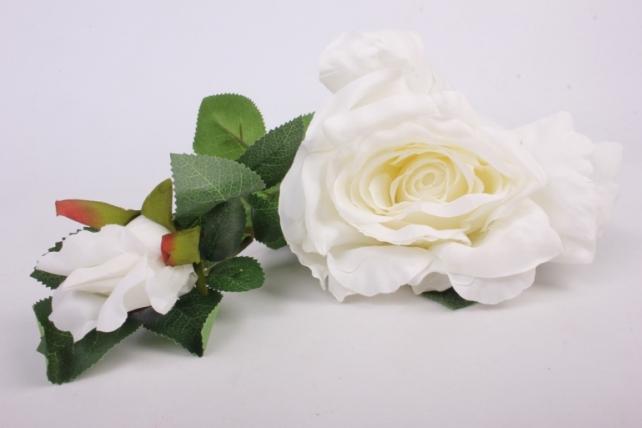 роза на ветке 33см   8825 kwla124b