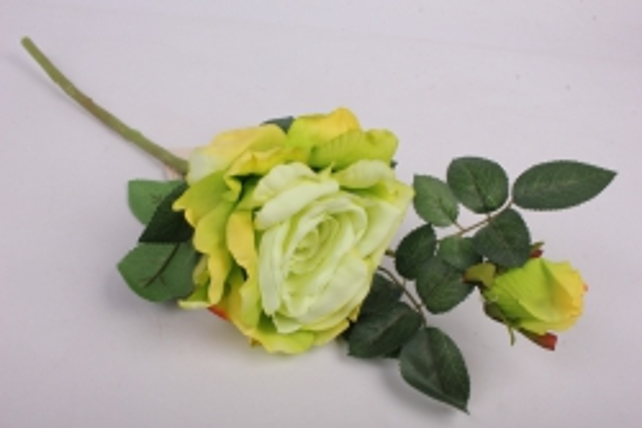 Роза на ветке 33см   8870  KWLA124Z