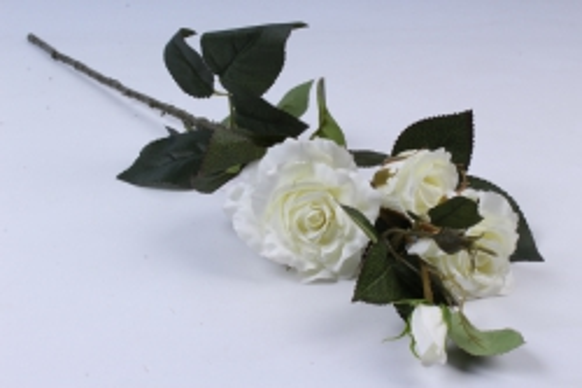 Роза на ветке  белая SUN130