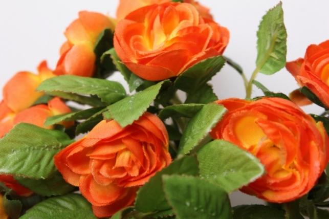 роза оранжевая на кольце - искусственные растения