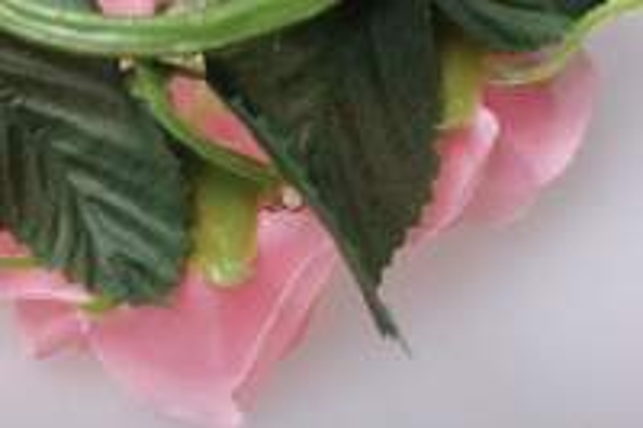 роза розовая малая на кольце - цветы для декора