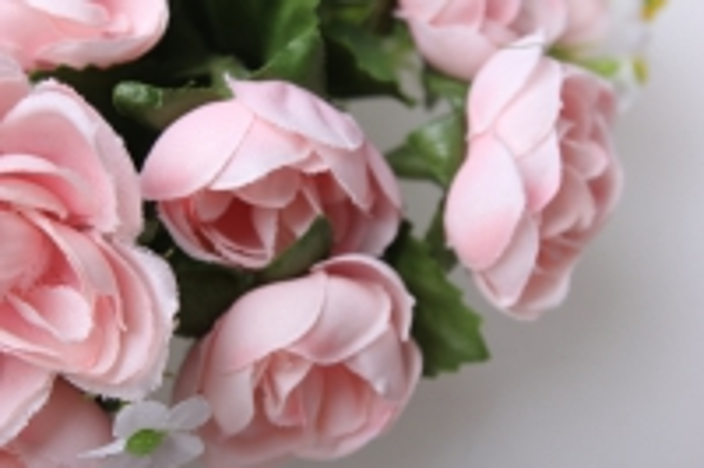 роза розовая на кольце - для декора