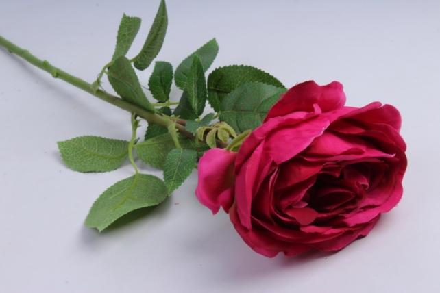 Роза с бутоном 64 см малиновая SUN520