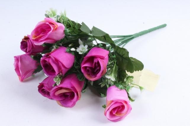 Роза с мелкими колокольчиками фуксия