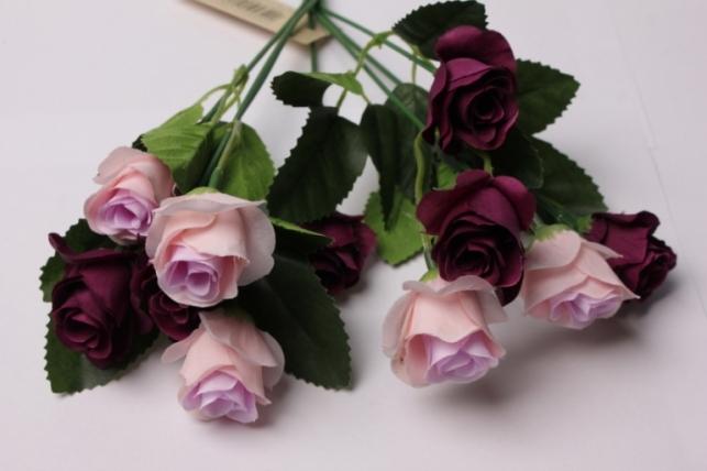 роза сирен/фиолет букет 17cм 0542