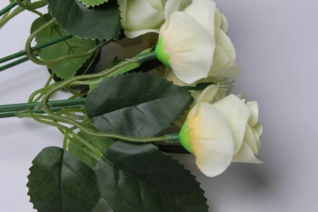 роза ваниль букет 17cм 0566