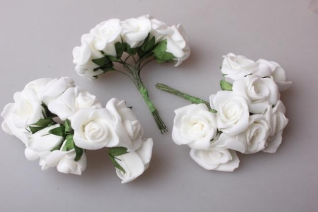 Розы латексные d=2,5см (30шт в упаковке)