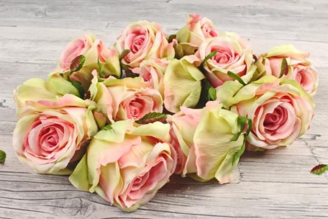 Розы 7см ( 12 шт в уп)  персиковые SUN388-1453