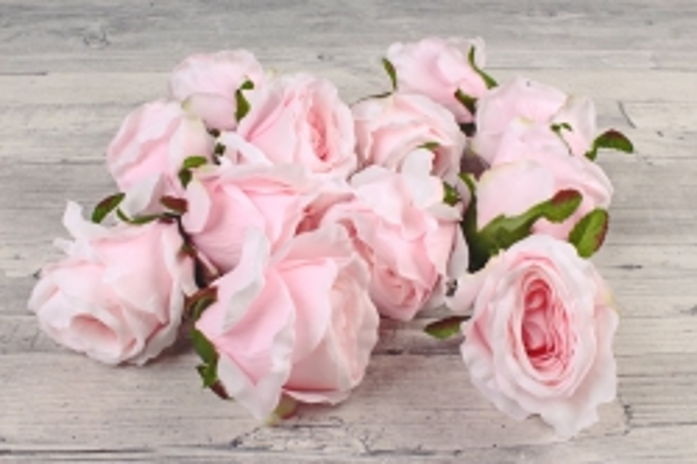 Розы 7см ( 12 шт в уп)  розовые SUN388-1995