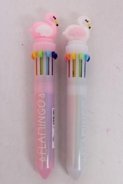 Ручка (10 стержней)  Фламинго (роз/бел) 1шт микс 15см
